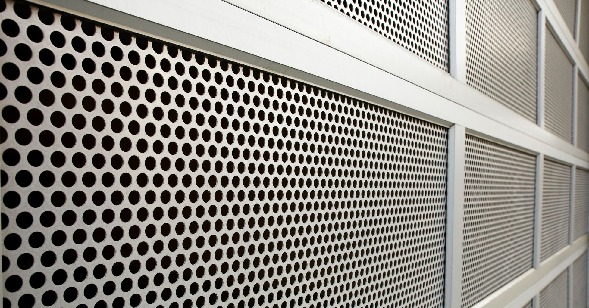Perforated door panels offers safety while it\u0027s aesthetically pleasing & Perforated Security Screen | Metal Security Screens Material