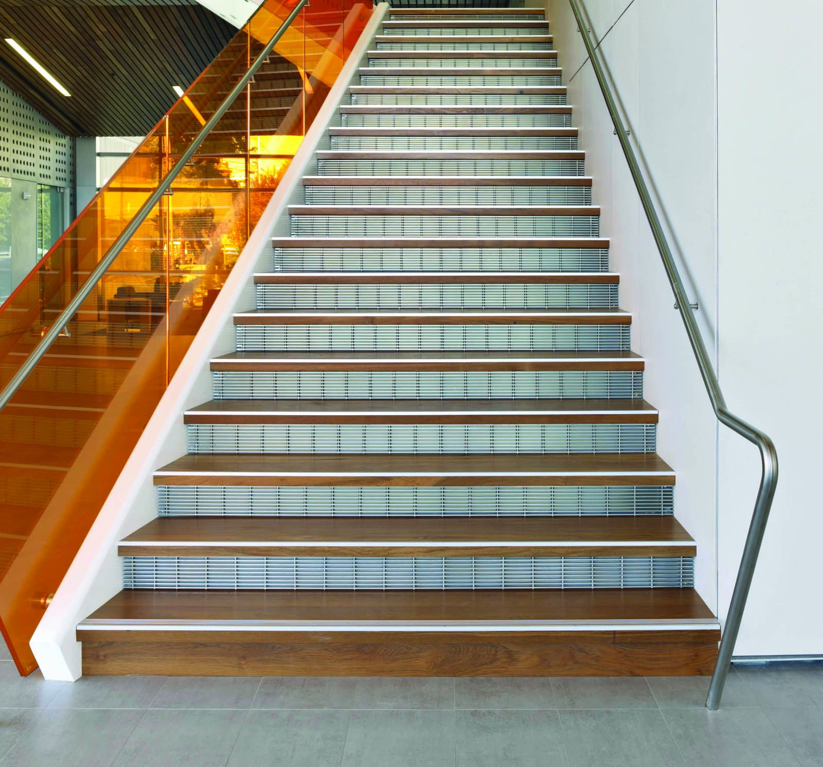 Metal Stair Treads Risers Perforated Metal Stair Panels