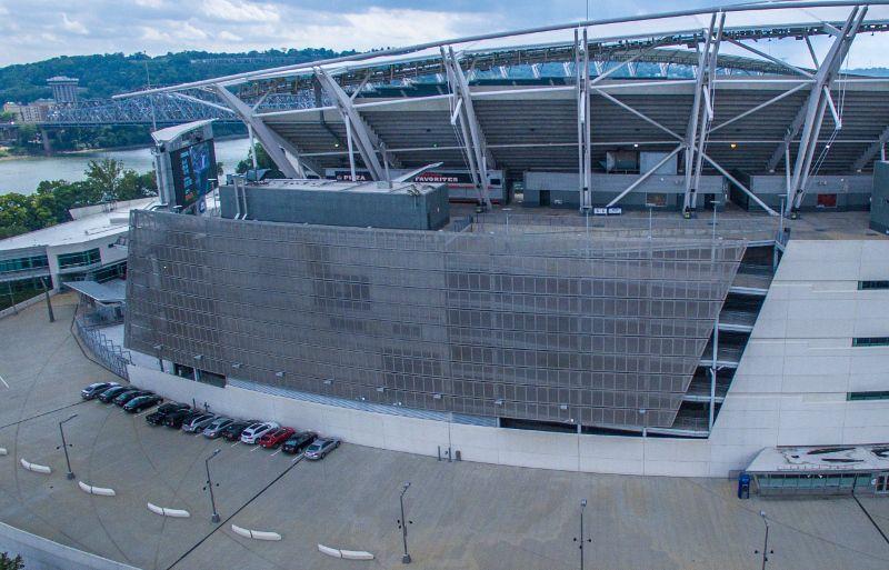 Perforated Metal Cladding - Paul Brown Stadium | Hendrick