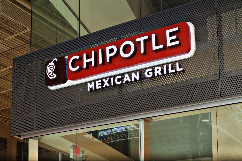 Perforated metal sign chipotle hendrick manufacturing
