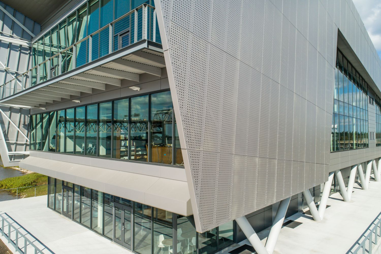 Perforated Metal Cladding - Water Inst  of the Gulf