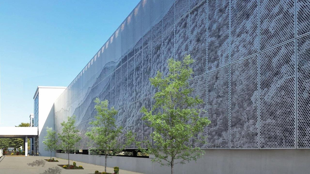 Perforated Metal Imaging Asheville Airport Hendrick